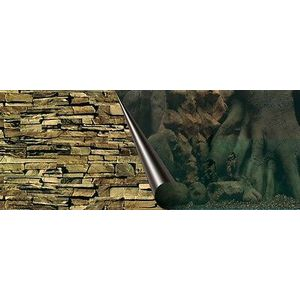 Europet Bernina 241-109038 Photo Rear Panel, 120 x 50 cm Motif Tree and Rock
