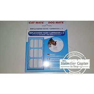 Cat Mate 2 x 2 Filter Replacement Filter Drinking Fountain Fountain for Cats
