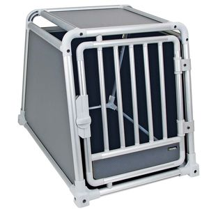 KERBL Hunde Transportbox TRAVELPROTECT Alu Auto Hundebox Hundetransportbox