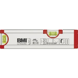 BMI WASSERWAAGE ALU 200MM MIT MAGNET ULTRASONIC M. HORIZONTAL-LIBELLE