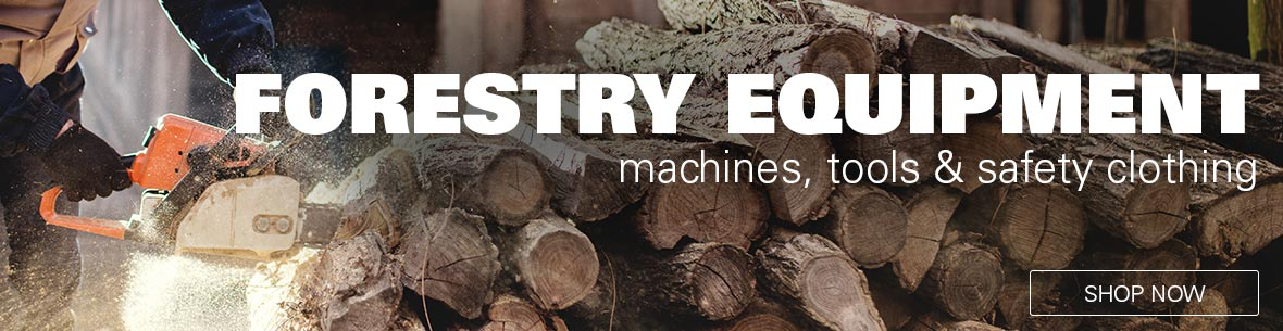 Forestry equipment - machines, tools and safety clothing